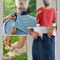 Are you looking for the elderly disabled apparel? Globofam have the collection of clothing and footwear designed specifically for seniors, the elderly, disabled adults and individuals who need assistance in dressing is considered adaptive. Sewing Clothes, Diy Clothes, Fabric Manipulation Techniques, Shoulder Surgery, Adult Bibs, Adaptive Equipment, Disabled People, Sewing Projects For Kids, Clothing Patterns
