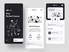 Courses App by Afterglow on Dribbble App Ui Design, Dashboard Design, Mobile App Design, Interface Design, Your Design, Mobile Ui, Interface App, Mobile Code, Design Web
