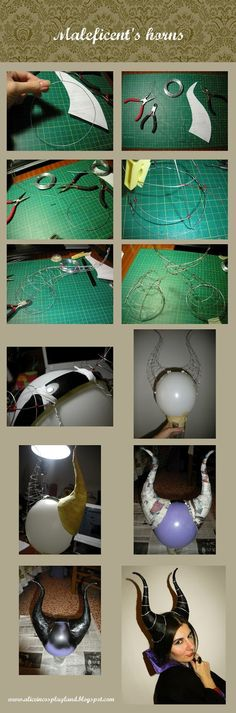 Here you have the tutorial to make horns. Basically I used a lot of wire and I think you can see the process clearly in the pics. They are...
