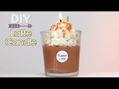 DIY Starbucks Latte Candle (Holiday Gift Idea) - YouTube