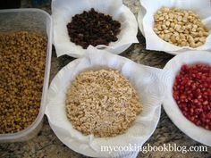 Ingredients for making the Koliva. Arabic Food, Greek, Faith, Breakfast, Recipes, Arabian Food, Morning Coffee, Recipies, Ripped Recipes