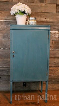 Urban Patina: Bluesy Music Cabinet ASCP Aubusson Blue.