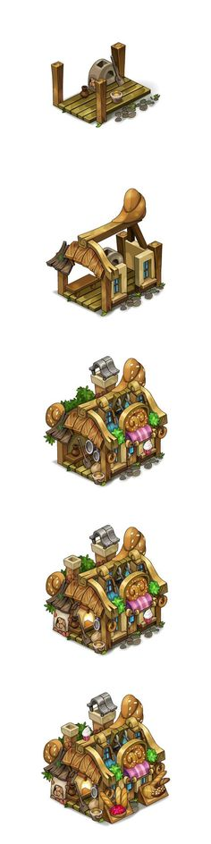 Bakery levels for Oasis game on Behance by Pykodelbi