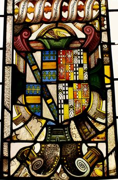 Stained glass - Coat of Arms Victoria and Albert Museum - British Galleries