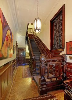 Clinton Avenue Brooklyn Victorian mansion interior stairway by techpro12, via Flickr