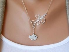 silver jewelry woman retro bird branches necklace collarbone chain, Top quality  The cost mentioned is for 1 single piece