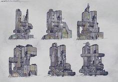 ArtStation - City structures concepts , Tano Bonfanti
