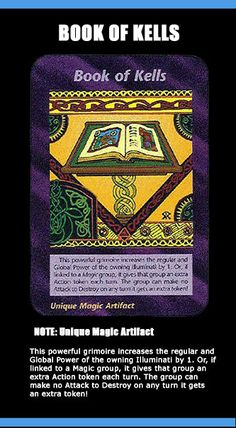 1995 illuminati card game - Book of Kells
