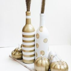White and gold upcycled fall centerpiece- Place Of My Taste-5374