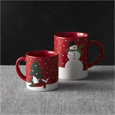 Snow Day Mugs | Crate and Barrel