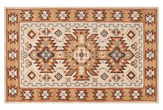 Regent Rug, Parchment/Gold on OneKingsLane.com.  This would go good with the comforter I bought.