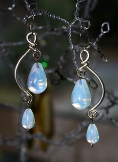 Opalite & Alpaca Wire Earrings by Amorio Designs, via Flickr