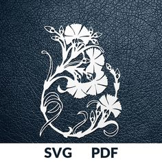 FLOWER DESIGN >> You are buying the digital template of this cut only, not a finished cut. This file is ready to be used with your Cricut, Silhouette Cameo, Brother, or similar cutting machines. The template can be scaled to any size you need for printing or cutting purposes. HOW DOES
