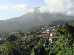 Morne Rouge et la Montagne Pelée en Martinique. Parmi les premiers habitants, on compte de nombreuses familles déportées de l'Acadie au milieu du 18ième siècle.