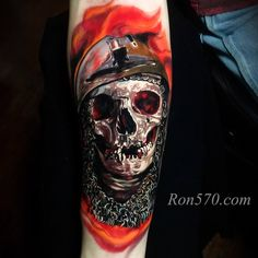 Skull tattoo by Ron Russo