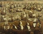 """May 28th - """"There must be a beginning of any great matter, but the continuing unto the end until it be thoroughly finished yields the true glory."""" Drake in a letter to Francis Walsingham.    Today, 424 years ago, the Armada Invencible, the invincible fleet, began to set forth from Lisbon, beginning the slow march along the Bay of Biscay."""