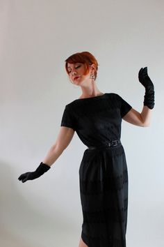 New!  A Classic Audrey Hepburn LBD  Sale 1950s Dress Black Lace Fashion Wiggle Dress by gogovintage, $88.00