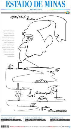 Niemeyer / Portada de Jornal Estado de Minas (Brasil)