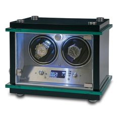 Rapport London Commander Dual Watch Winder w/ Glass Display - Allurez