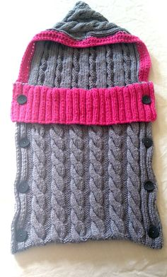 Cable Knit Baby Sleeping Bag Pattern