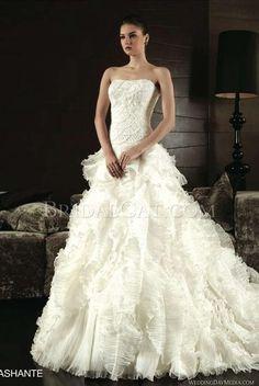 A-line Classic Princess Intuzuri Costura Ashante Straight Wedding Dress [P0008489] | jjdress.net