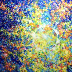 ARTFINDER: Light Circles by Marc Todd - Ready to hang painting on pre-stretched box canvas.