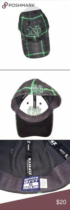 50e068a59fb Zephyr Fitted ND Hat Share your fandom with everyone when you put on this  Notre Dame