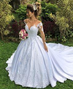 Bella Wedding Dress, Wedding Dress Sleeves, Princess Wedding Dresses, Dream Wedding Dresses, Bridal Dresses, Wedding Gowns, Bridesmaid Dresses, Quince Dresses, Ball Dresses