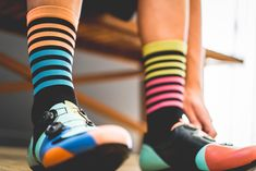 SockGuy SGX 6in Palms Performance Cycling//Running Socks