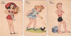 *Vintage Old Maid Game Cards