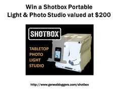 Win a Shotbox Portable Light & Photo Studio valued at $200