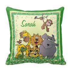 Safari Jungle Baby Decor Pillow