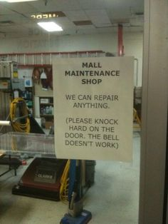 Mall_Maintenance Funny Signs, Funny Memes, Jokes, It's Funny, Funny Fails, That's Hilarious, Hilarious Quotes, Memes Humor, Funny Pictures