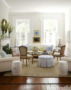 """Sophisticated Simplicity """"No fuss"""" was Lynn Morgan's mantra when she decorated this Savannah Row House: """"I wanted it simple, clean-lined, an..."""