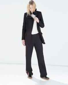 Image 1 of FUNNEL COAT from Zara