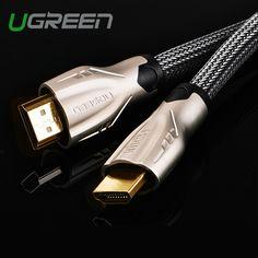 Ugreen hdmi kabel 1 m 2 m 3 m 5 m hdmi untuk hdmi kabel hdmi adapter 4 K 3D 1.4 v kabel untuk HD TV LCD laptop PS3 proyektor kabel komputer