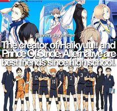 Anime facts | omg No wonder they're so beautiful XD #haikyuu #princeofstride