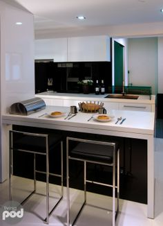 A Cool HDB Apartment Kitchen Only @ Singapore's Design + Lifestyle Channel.