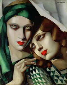 Lempicka (1898-1980) is one of the most well-known female Art Deco painters.