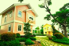 Pearl Model Home by Crown Asia Big Houses, Elegant Homes, Model Homes, Inspired Homes, Home Builders, Canopy, Countryside, Philippines, The Neighbourhood