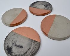 Florence and Moose by FlorenceAndMoose on Etsy The Make, Kitchen Interior, Florence, Concrete, Coasters, Unique Jewelry, Handmade Gifts, Moose, Copper