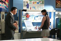Still of Pauley Perrette and Larry Bagby in NCIS (2003)