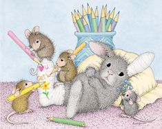 """Mudpie, Amanda, Muzzy and Monica from House-Mouse Designs® featured on the The Daily Squeek® for October 28th. Click on the image to see it on a bunch of really """"Mice"""" products."""