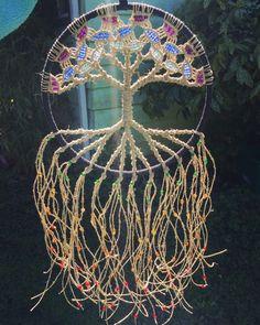 Spiritual macrame wall hanging decor  Www.evergreenbohemian.com