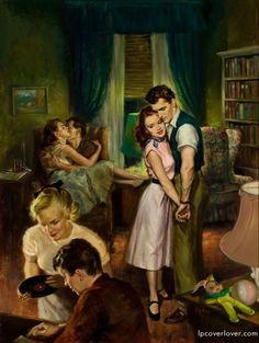 Baby Sitter, paperback digest cover, 1952 by Raymond Pease