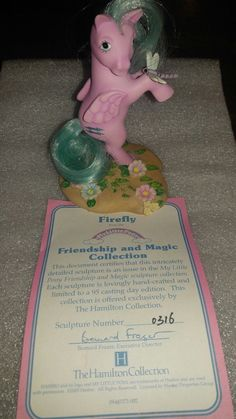 My Little Pony Firefly from The Hamilton Collection Original My Little Pony, Vintage My Little Pony, My Little Pony Merchandise, Little Poney, New Friendship, Special Interest, Old Toys, Toy Boxes, 2000s