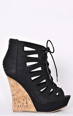 Mischa Lace Up Wedges - New Arrivals