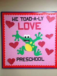 My valentines preschool board