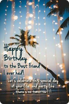 Happy Birthday Best Friend Quotes, Short Birthday Wishes, Birthday Girl Quotes, Happy Birthday Wishes Cards, Happy Birthday Friend, Happy Birthday Pictures, Happy Birthday Funny, Birthday Lines For Sister, Birthday Cards