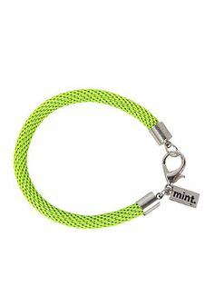 MINT Womens Neon Mesh Silver Bracelet neon yellow #planetsports